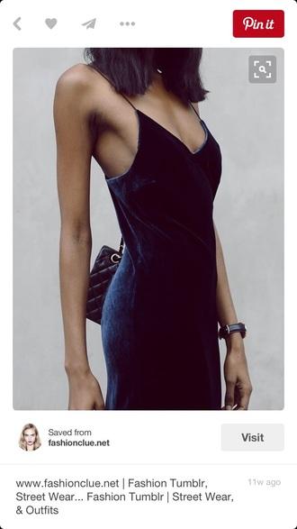 dress velvet straps