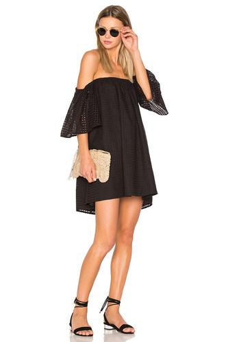 dress eyelet dress black