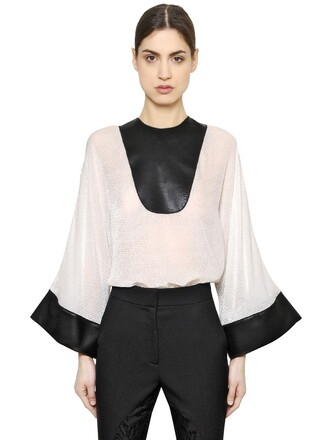 top leather white black