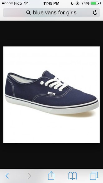 shoes dark blue vans vans of the wall white laces