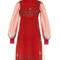 Paisley-print babydoll dress