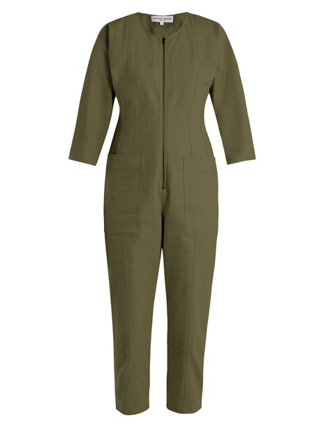 Apiece Apart jumpsuit denim jumpsuit denim khaki