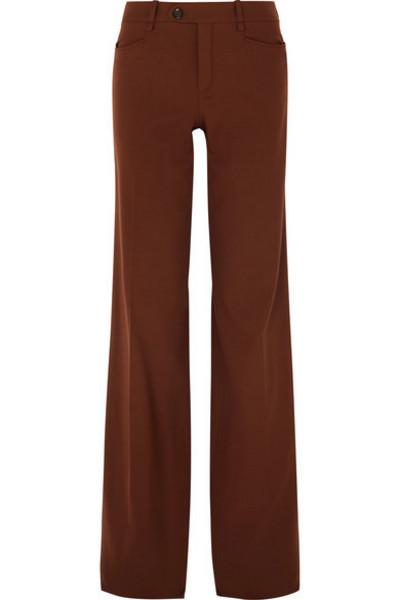 Chloé Chloé - Wool-blend Wide-leg Pants - Copper