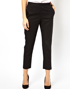 ASOS | ASOS Crop Trousers in Linen at ASOS