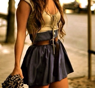 dress tan dress blue skirt beachy dress mini dress beige dress summer dress blouse shirt brown belt