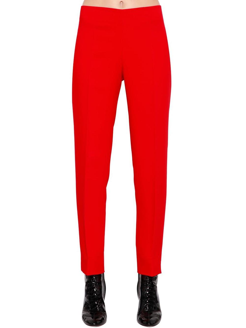 ANTONIO BERARDI Viscose Cady Pants in red
