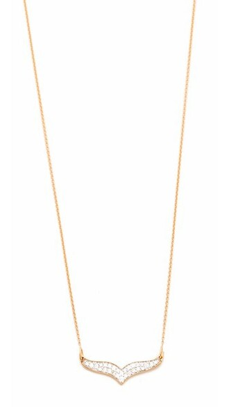 mini rose gold rose clear necklace gold jewels