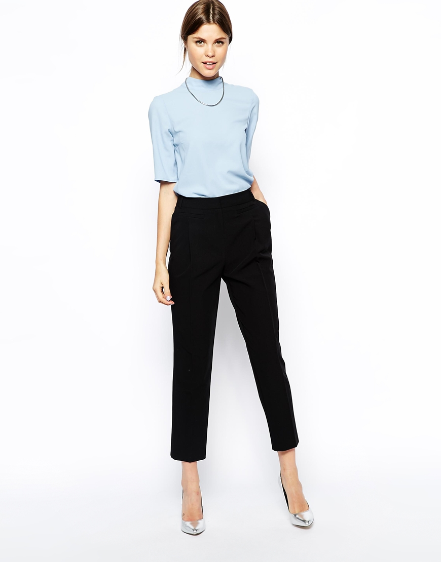 ASOS Peg Trousers With Pocket Detail at asos.com