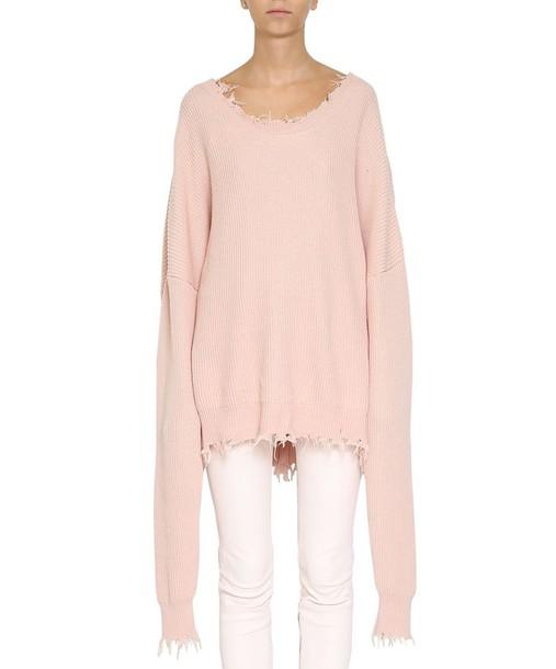 BEN TAVERNITI UNRAVEL PROJECT sweater oversized cotton