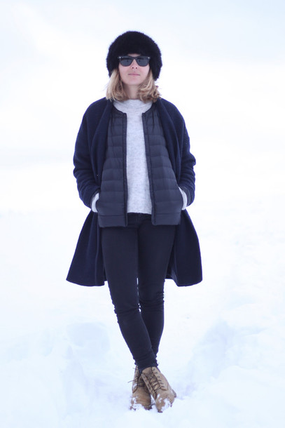 jane's sneak peak blogger coat jacket fur hat down jacket