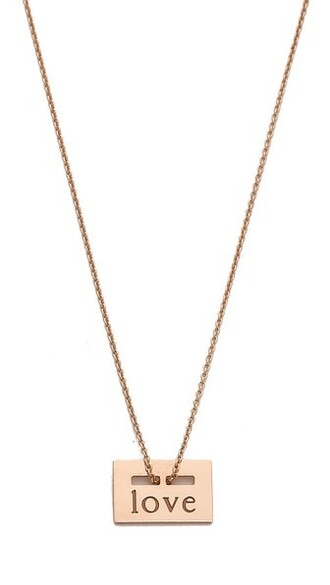 mini rose gold rose love necklace gold jewels