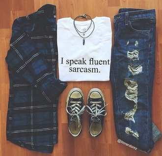 shirt sarcasm i speak fluent sarcasm fashion girly blouse