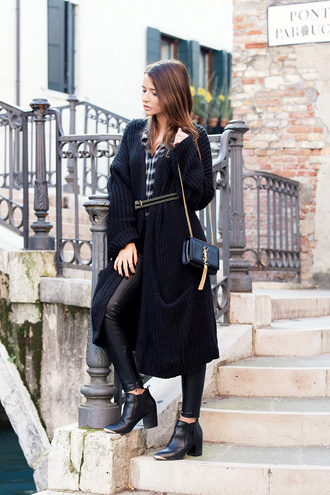 the fashion fruit blogger knitted cardigan ankle boots