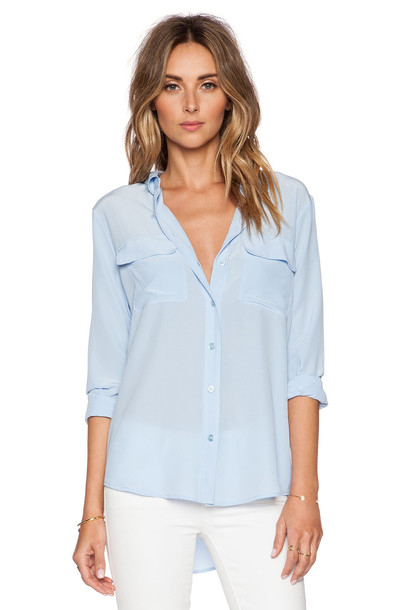 Equipment blouse baby blue baby blue