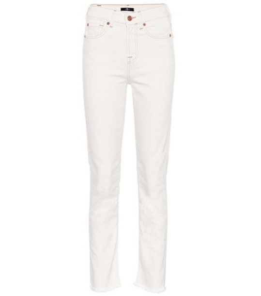 7 For All Mankind Erin straight-leg jeans in white