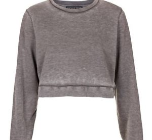 TOPSHOP ACID WASH GREY BURNOUT CROPPED SWEATER JUMPER TOP GRUNGE VTG 8 10 | eBay