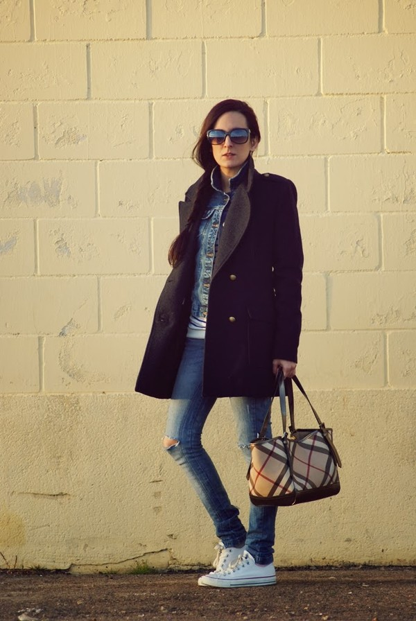 my name is maria sweater jacket coat bag jeans shoes