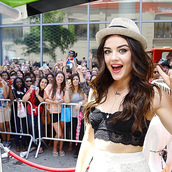 jewels,lucy hale,necklace,pretty little liars,hat