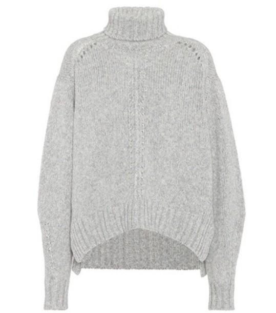 Isabel Marant Dasty wool-blend turtleneck sweater in grey