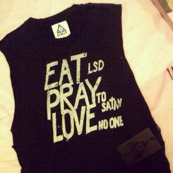 unif t-shirt eat pray love