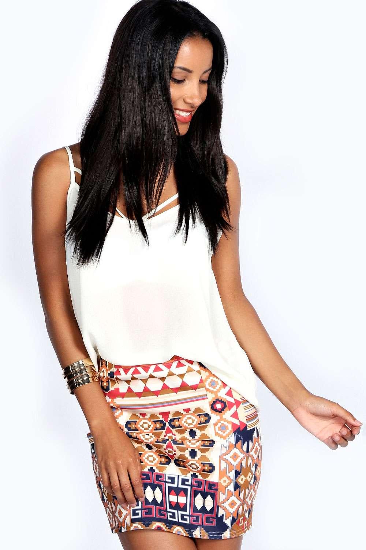 Carrie Aztec Mini Skirt