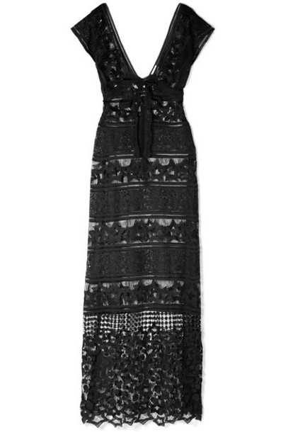 Miguelina dress maxi dress maxi lace black