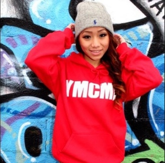 red sweater polo hat ralph lauren grey beanie ymcmb