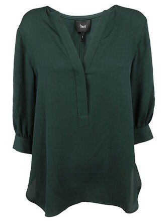 blouse green top