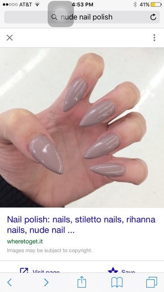 nail polish nude girly girly grunge nails