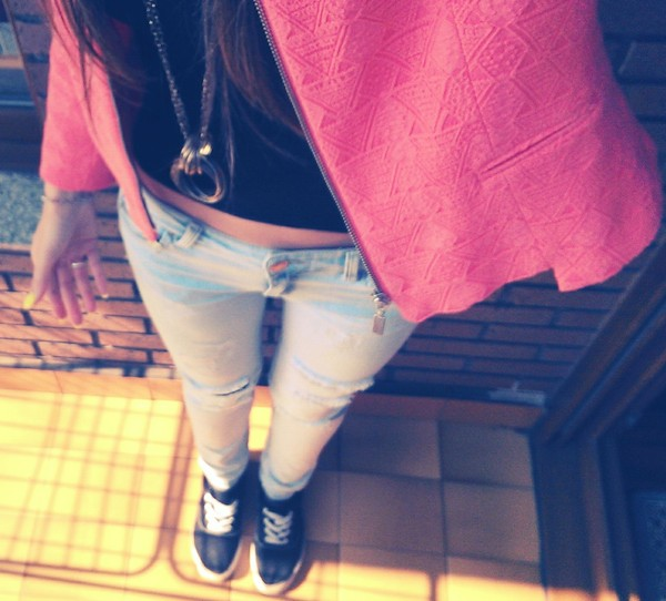 jeans skinny jeans customized stradivarius cute outfits summer outfits zara t-shirt casual spring outfits jacket shoes