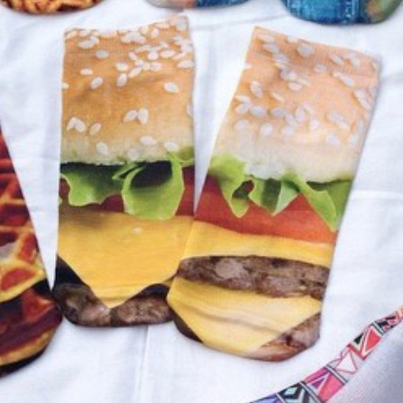 hamburger socks bigmac fun