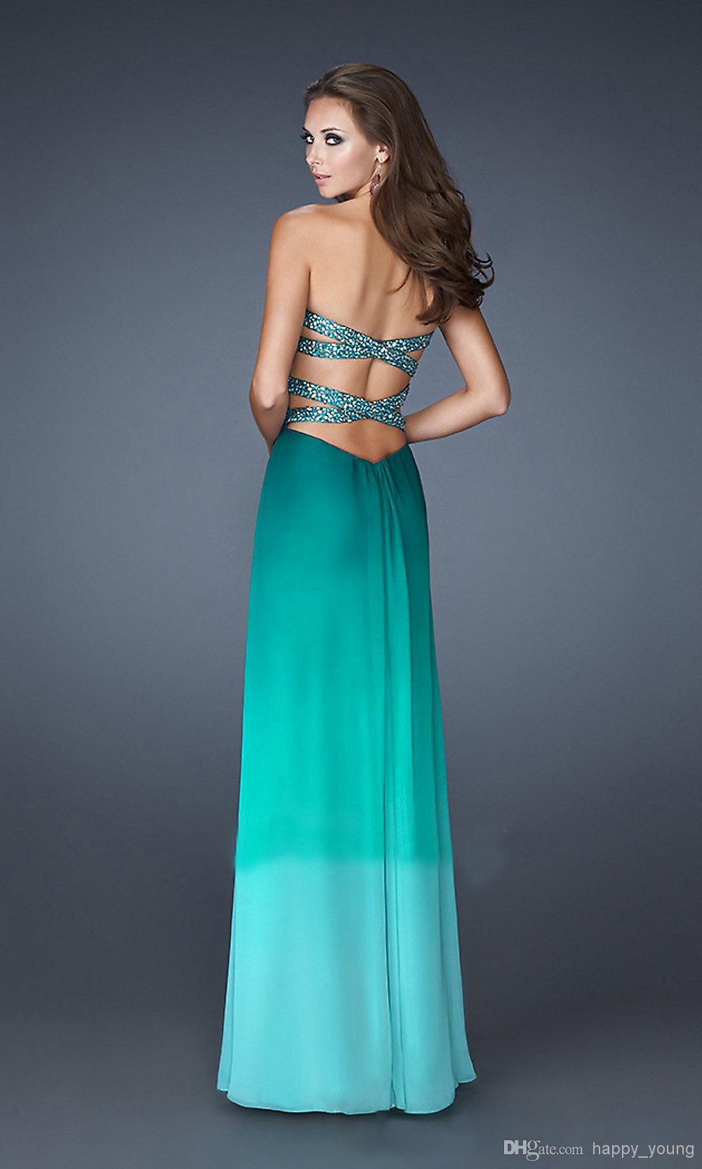 Cheap Price Print Chiffon Floor Length Sweetheart Cheap Prom Dresses ...