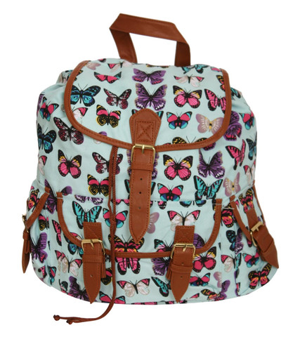 Rochelle Butterfly Back Pack in Aqua Blue by Pilot | Pilot