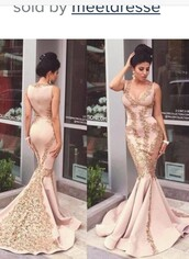 dress,gold pink gown