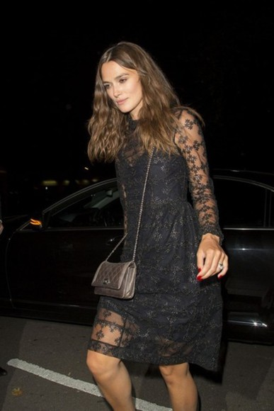 dress keira knightley lace dress