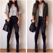 pants,disco pants,disco skinny pants,skinny jeans,high waisted pants,striped tee,shirt,jacket,blouse,white,black,strippes,oversized,loose