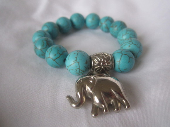 jewels elephant silver tumblr light blue bracelets tumblr girl