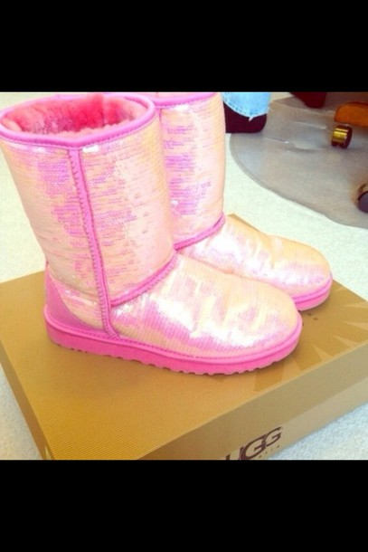 shoes cheap pink sequin uggs