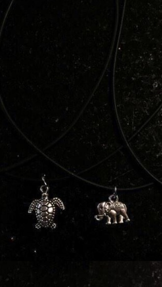 jewels turtle hipster jewelry jewelry necklace necklace elephant