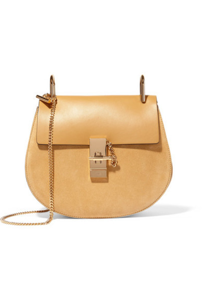 Chloe bag shoulder bag leather suede yellow
