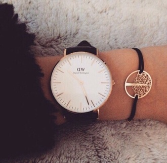 nail accessories watch cute watch black vintage watch daniel wellington