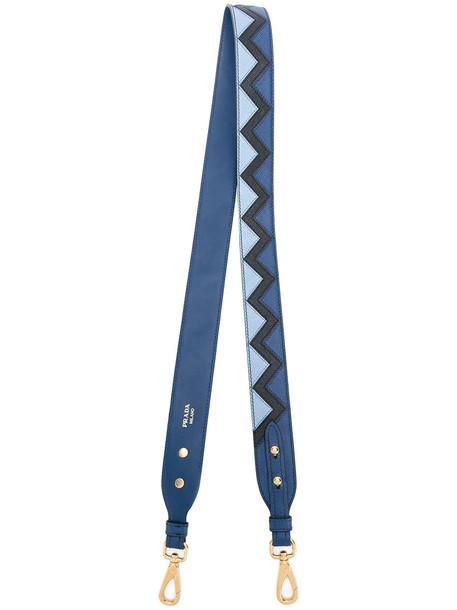 Prada women bag leather blue