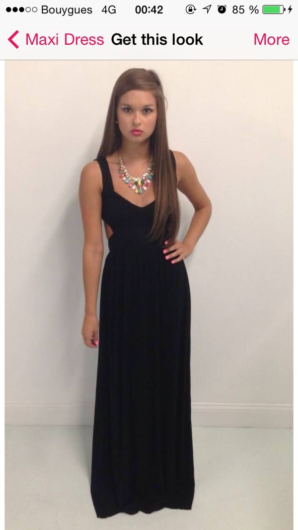 dress black maxi dress maxi dress cut out maxi dress prom dress black sexy dress