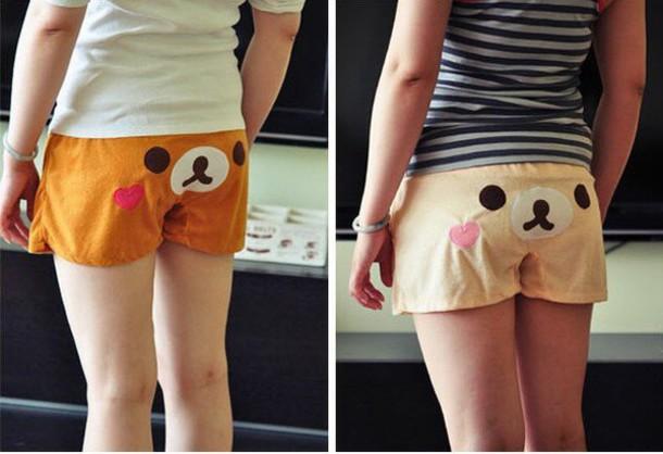 shorts kawaii rilakkuma cute lovely sleep shorts trendy korilakkuma
