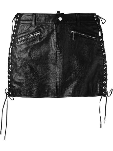 Dsquared2 skirt mini skirt mini lace black