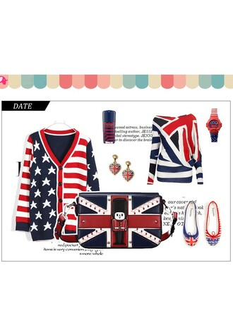 bag union jack bagsprinted ladies wallet with sling cute bags vintage bags retro bags printed bag fashion outfit outfit cute outfits handbag