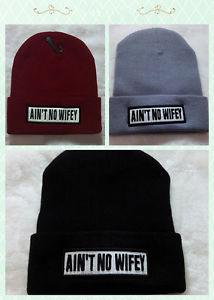 New Ain'T No Wifey Cuffed Beanie Skull Cap Hat Hip Hop Cap | eBay