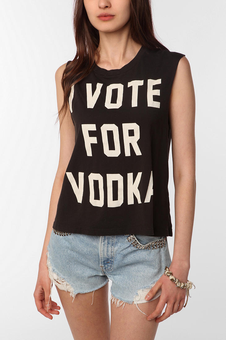 Truly madly deeply vote for vodka muscle tee urban for Dos equis t shirt urban outfitters