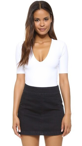 bodysuit thong classic white underwear