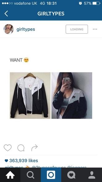 coat jacket nike ball cap baseball tumblr hipster adidas black white monochrome